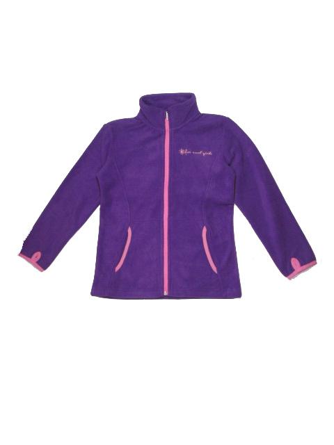 122-Dívčí fleesová mikina WOLF - barva fialová