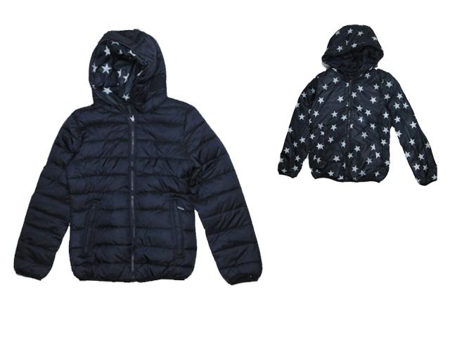 134-170-Dívčí lehčí zimní bunda oboustranná Glo-Story - tm.modrá barva