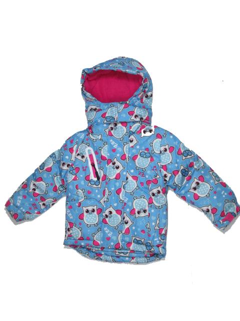 80-86-Dívčí zimní bunda Monellina - barva tyrkysová