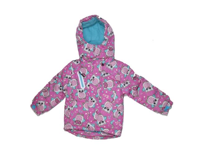 80-86-Dívčí zimní bunda Monellina - barva růžovo-fialová