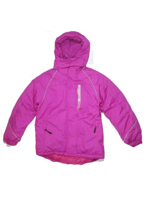 140-146-Dívčí zimní bunda Monellina - fuchsiová barva