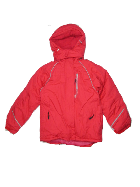 134-140,158-164-Dívčí zimní bunda Monellina - červeno-oranžová barva