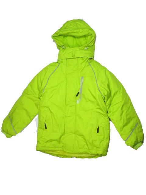 152-158-Dětská zimní bunda Monellina - fosforově žluto-zelená barva