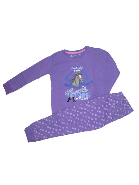 vel.110-Dívčí pyžamo WOLF - fialová barva