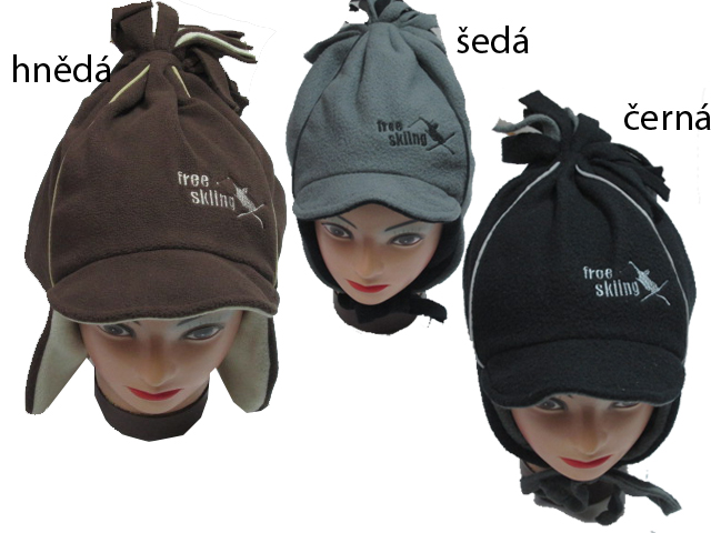 obvod 52,54,56-Chlapecká zimní flaušová čepice