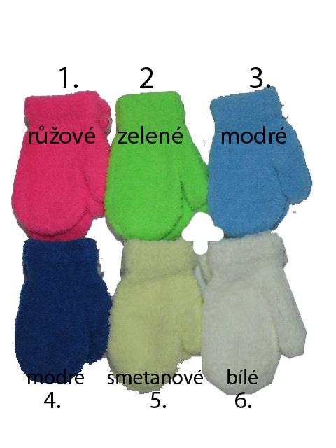 Dětské fleesové palcové rukavice DELFIN