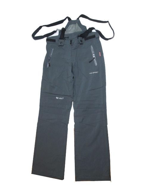 S,M,2XL,3XL-šedé-Dámské sportovní softshellové kalhoty s kšandami NEverest