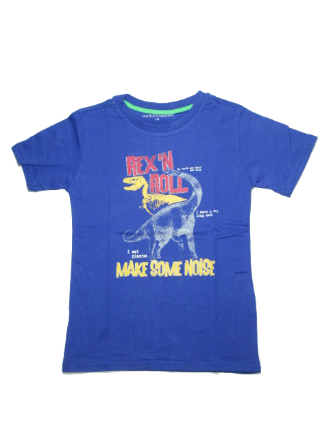 116,146-Chlapecké tričko - krátký rukáv WOLF - modrá barva