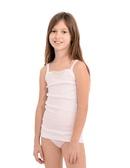 146-Dívčí košilka LUISA (tílko) bílá na ramínka EVONA