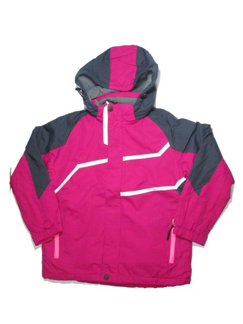 140,152-Dívčí jarní (podzimní) šusťáková bunda s fleesem KUGO - fuchsiová