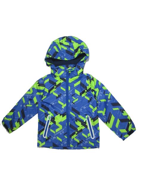 128-158-Dětská letní/jarní bunda KUGO - modro-zelená barva