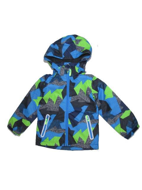 158-Dětská letní/jarní bunda KUGO - černo-zeleno-modrá