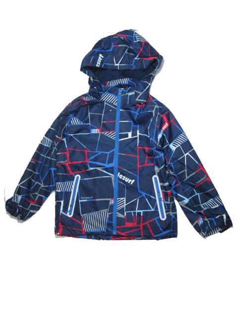 140-158-Dětská letní/jarní bunda KUGO - tm.modrá barva