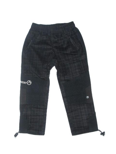 104-140-Dětské kalhoty Neverest - černo-hnědé