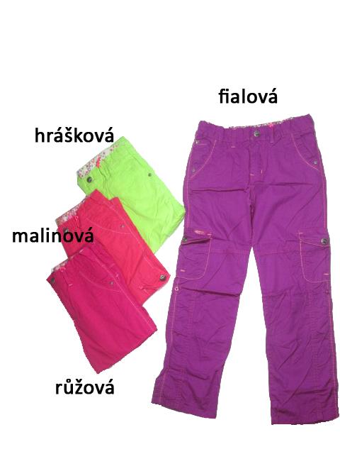 152-164-Dívčí letní plátěné kalhoty KUGo