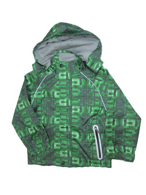 98-128-Dětská letní/jarní bunda KUGO - zelená kostka