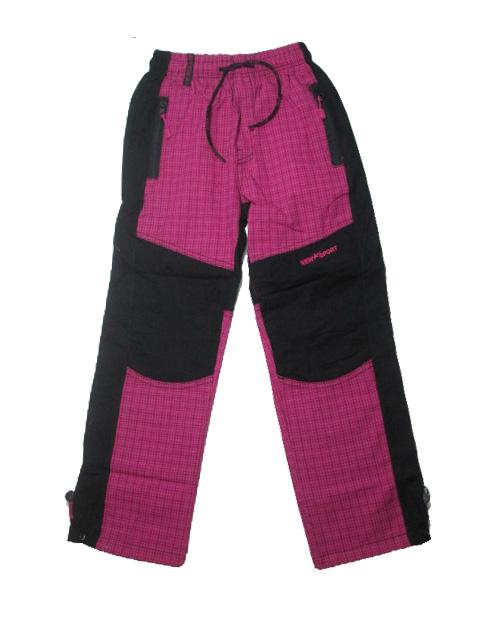 128-146-Dívčí outdoorové plátěné kalhoty Grace - barva růžová