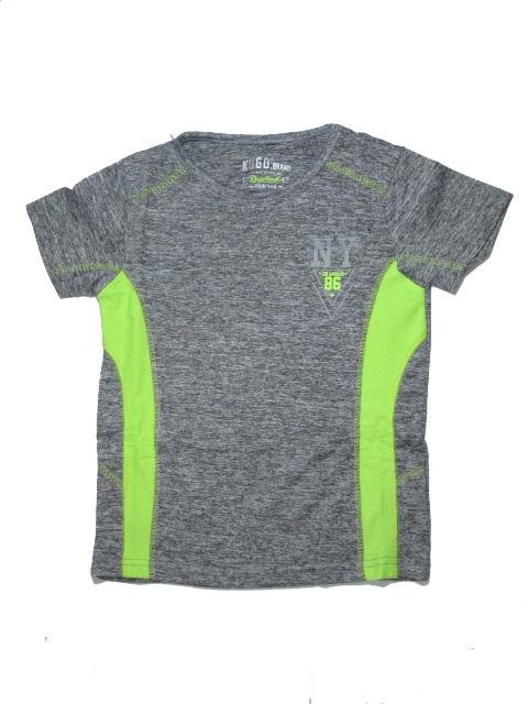 104-146-Chlapecké sportovní tričko - KUGO - šedá se žlutou