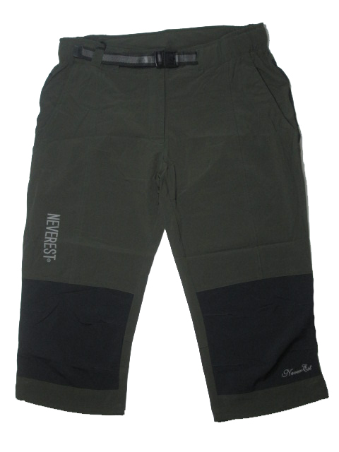 L-Dospělé 3/4 kalhoty Neverest - barva khaki