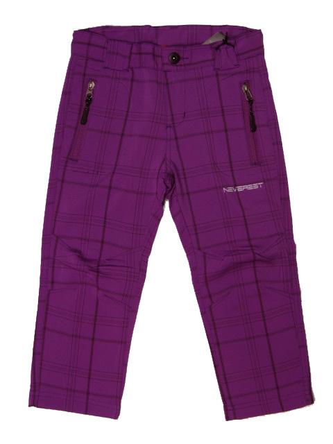 116-164-Outdoorové kalhoty Neverest - barva fialová