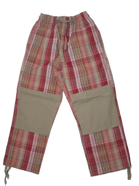 110-Dětské outdoorové plátěné kalhoty Neverest - béžovo-cihlová barva