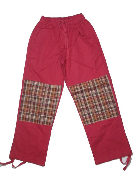 2.jakost-116-Dětské outdoorové plátěné kalhoty Neverest - červená barva