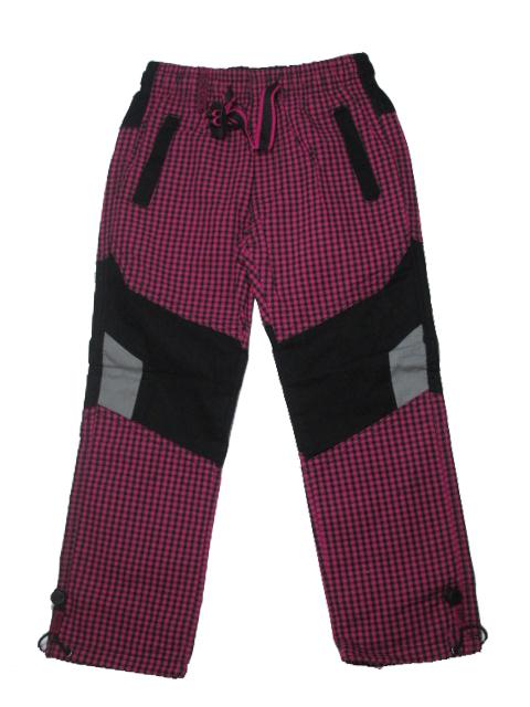 128-146-Dívčí outdoorové plátěné kalhoty Grace - barva fuchsiová