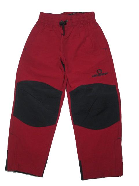 110,116,122,140,164-Outdoorové letní kalhoty Neverest -barva červená (malinová)
