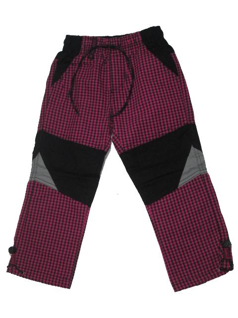 98,128-Dívčí outdoorové plátěné kalhoty Grace - barva fuchsiová