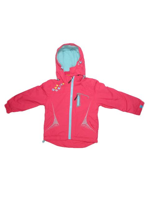 86-116-Dívčí podzimní/jarní bunda - červená barva