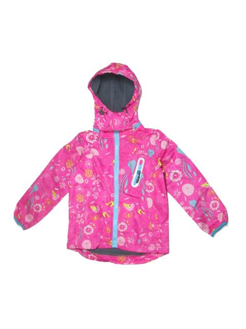 104-110-Dívčí podzimní/jarní bunda - růžová barva