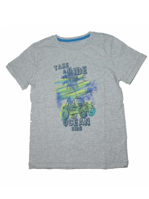 vel.134-164-Chlapecké tričko WOLF - krátký rukáv - šedá barva