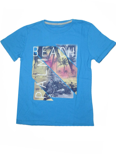 vel.140-164-Chlapecké tričko WOLF - krátký rukáv - modrá barva