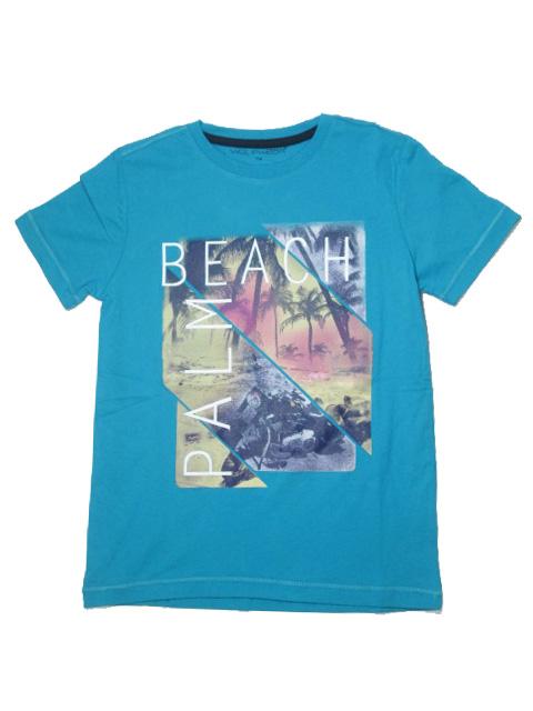 vel.134-164-Chlapecké tričko WOLF - krátký rukáv - petrolejová barva