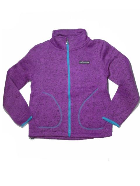 140,152-Dívčí pleteninová (teplejší) mikina WOLF - barva fialová