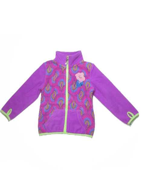 98-122-Dívčí fleesová mikina WOLF - barva fialová