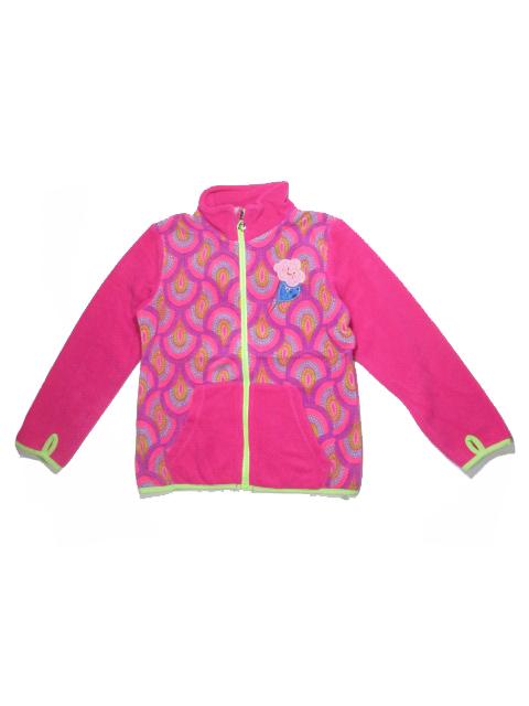 98-122-Dívčí fleesová mikina WOLF - barva růžová