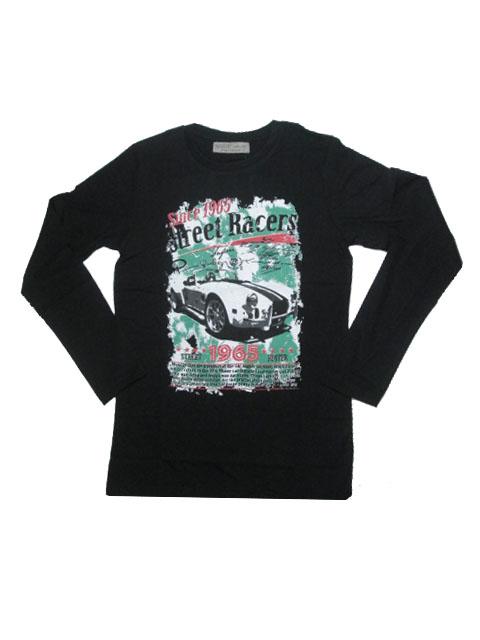 152,158,164-Chlapecké tričko - dlouhý rukáv Glo-Story - černá barva