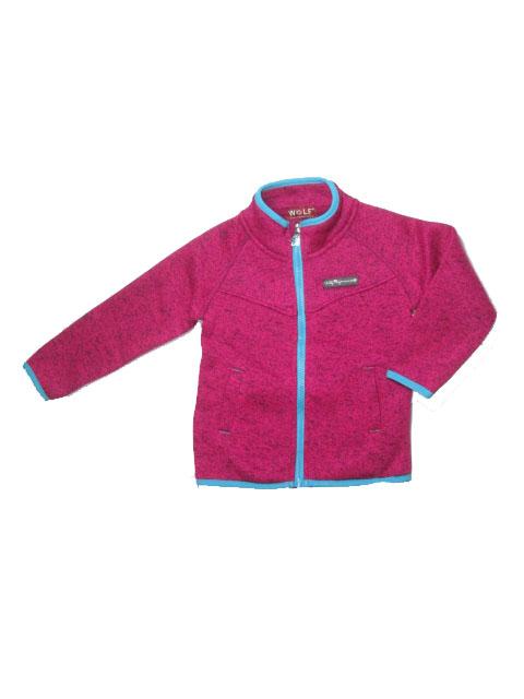 98-122-Dívčí pleteninová (teplejší) mikina WOLF - růžová barva