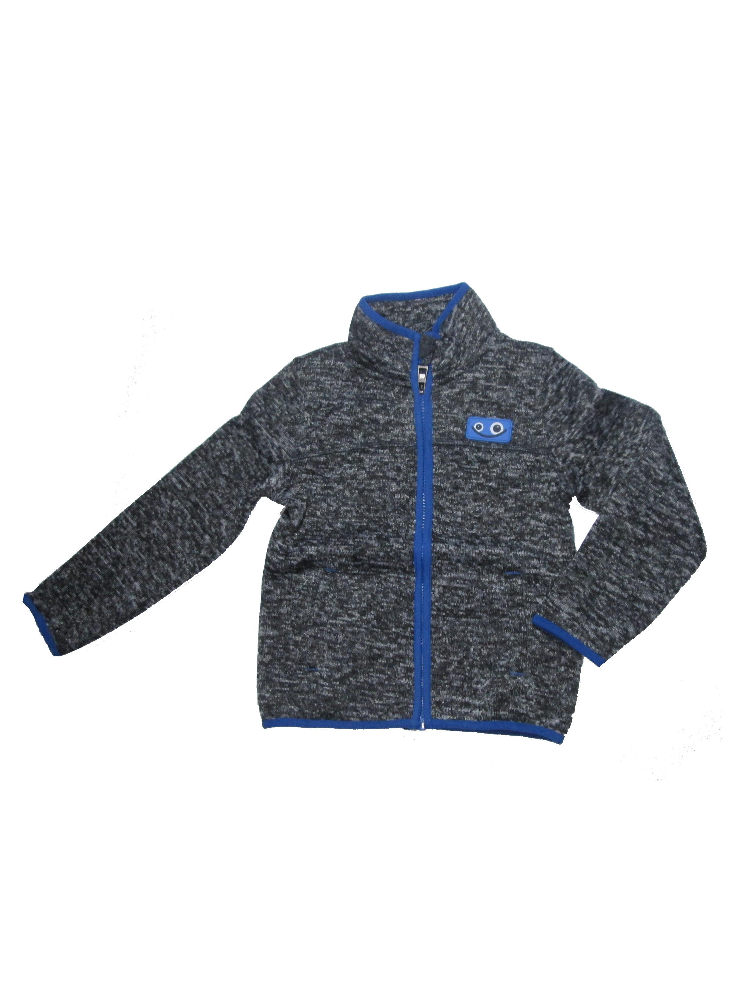 92-122-Chlapecká pleteninová (teplejší) mikina WOLF - černá barva