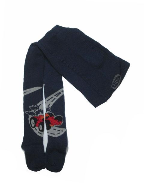 vel.104-110 - Chlapecké froté punčocháče Mim - tm.modrá barva