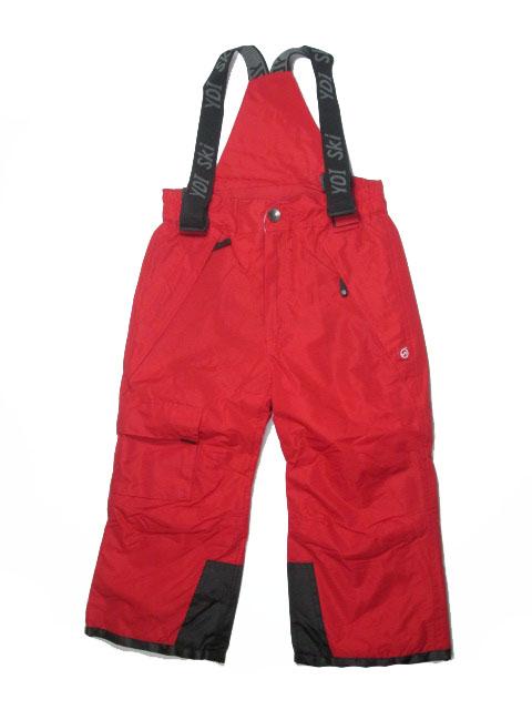 vel.104-110-Lyžařské zateplené kalhoty - YDI - červená barva