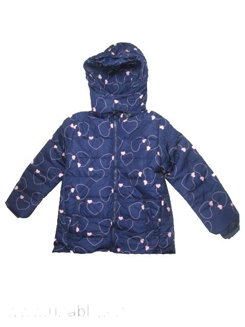 110-116-Dívčí zimní bunda SEZON - tm.modrá barva