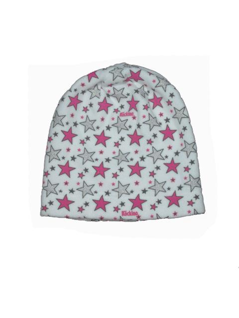 obvod 54,56-Dívčí zimní flaušová čepice - bílá barva