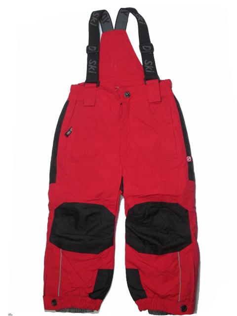 vel.98-128-Lyžařské zateplené kalhoty - YDI - červená