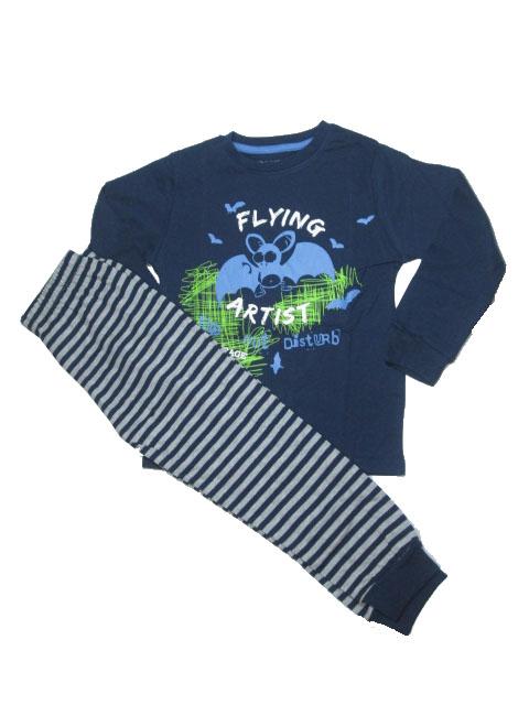 110,116-Chlapecké pyžamo WOLF - tm.modrá barva