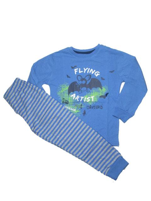 110-122-Chlapecké pyžamo WOLF - modrá barva