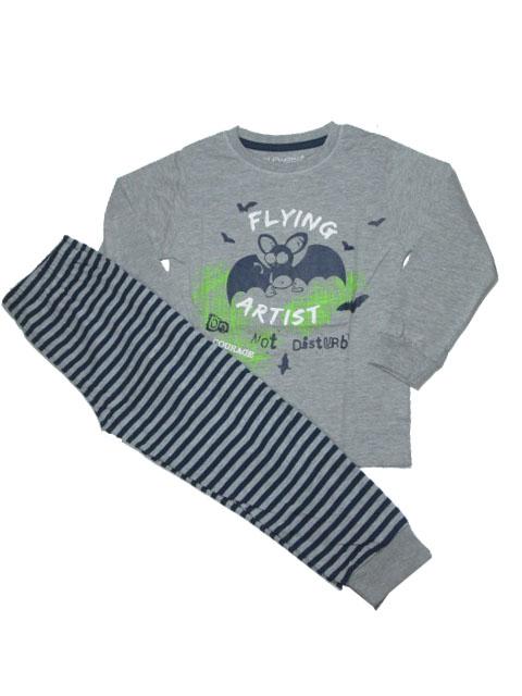 110-128-Chlapecké pyžamo WOLF - šedá barva
