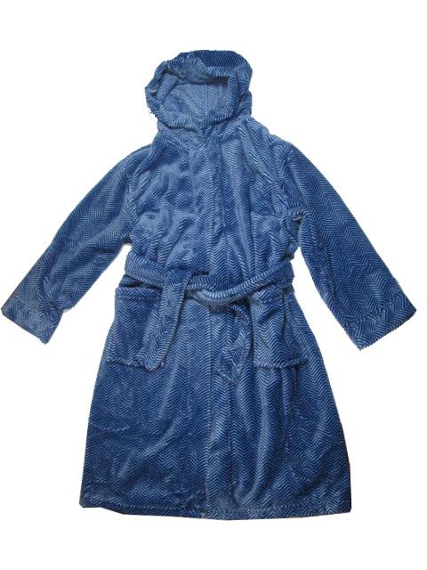 128-134-Chlapecký župan WOLF (proužek) - modrá barva