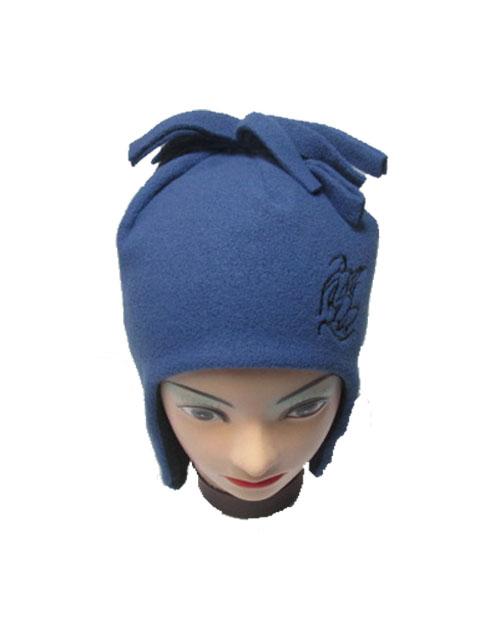 obvod 52,54-Chlapecká zimní flaušová čepice - modrá barva